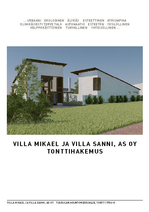 Villa Mikael - tonttihakemus